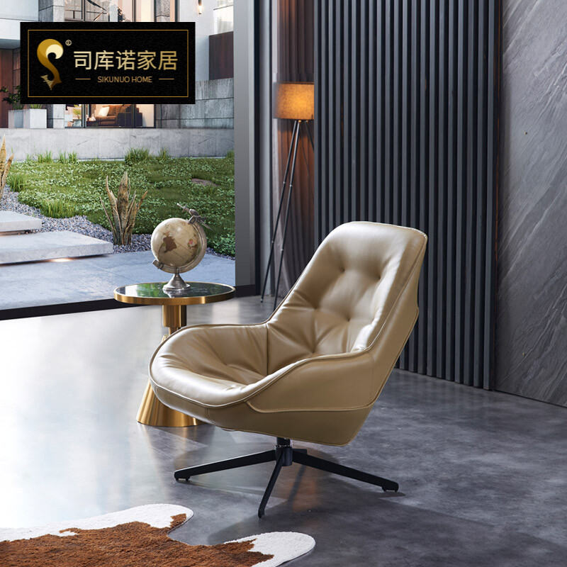 Northern Europe Single Seat Sofa Chair, Swivel Chairs For Living Room