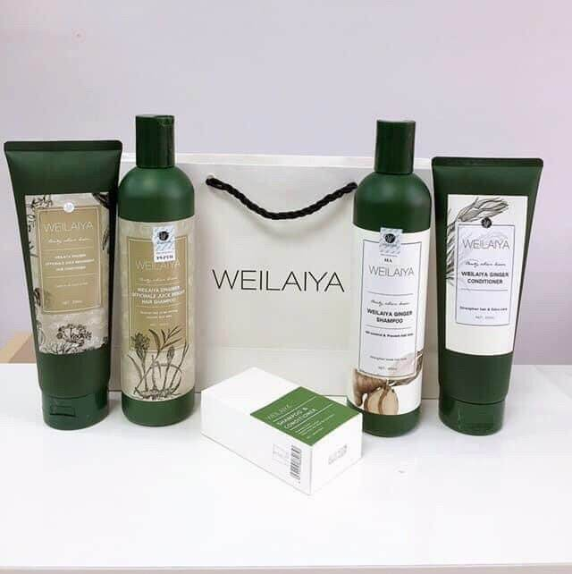 Buy 🌺  WEILAIYA Set Shampoo 400ML and Conditioner 250ML HAIR LOSS, DRY SCALP TREATMENT. Singapore