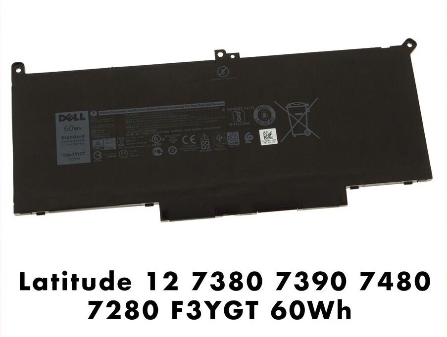 🌈 Dell DJ1J0 F3YGT Latitude 7480 7490 12 7000 7280  Replacement Laptop Battery