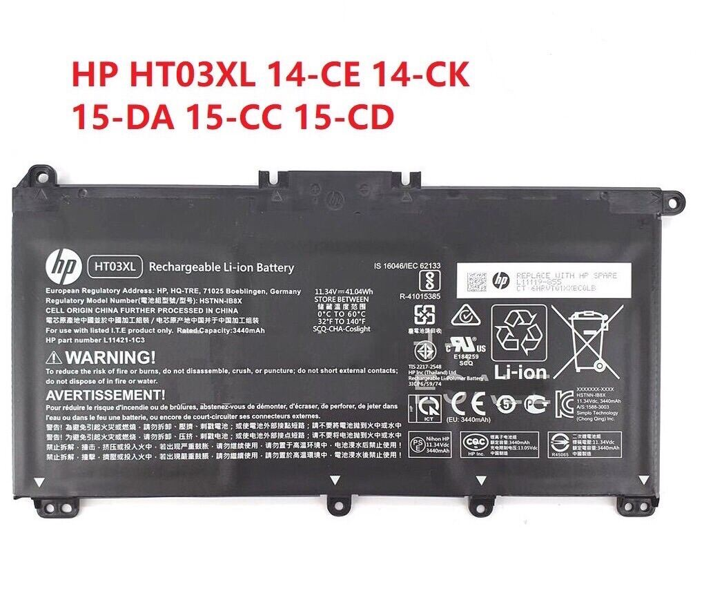 🌈 HP HT03XL Pavillion 14-CE 14-CK 14-CF 14-CM 14-DA 15-DB 15-CS 15-DA 17-DY X360 15-DQ  replace laptop battery